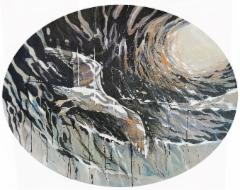 """Myrskyinen päivä saaristossa/A stormy day at the archipelago"", 95x120cm, 2019"" 95x120cm"