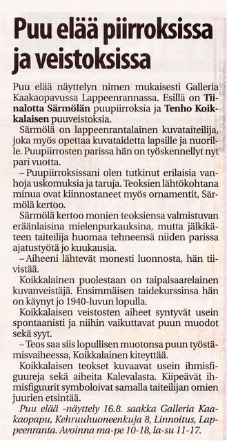 Lappeenrannan uutiset 13.8.2009