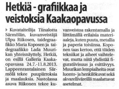 Lappeenrannan Uutiset 24.7.2013