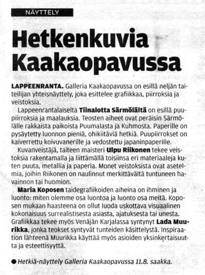 Etelä-Saimaa 25.7.2013