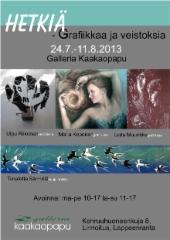 Hetkiä- yhteisnäyttelyn juliste 2013