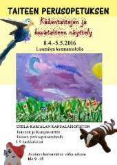 Taiteen perusopetuksen kevätnäyttelyjuliste 2016