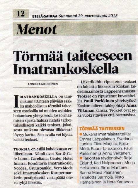 Etela-Saimaa 29.11.2015