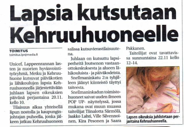 Lappeenrannan uutiset 12.11.2015