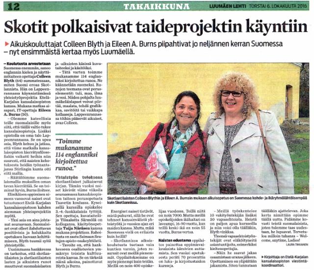 Luumaen lehti 6.10.2016