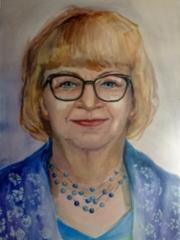 Äiti, akvarellimaalaus 2019