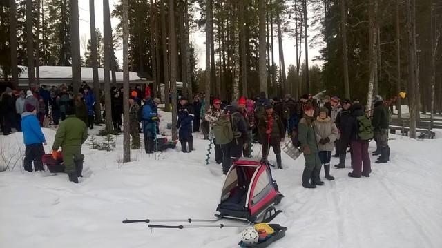 Timon 9. pilkit Iso-Ruuhijärvellä 4.4.2015