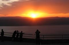 19.3.13 Aurinko laskee Genesaretinjärven taakse