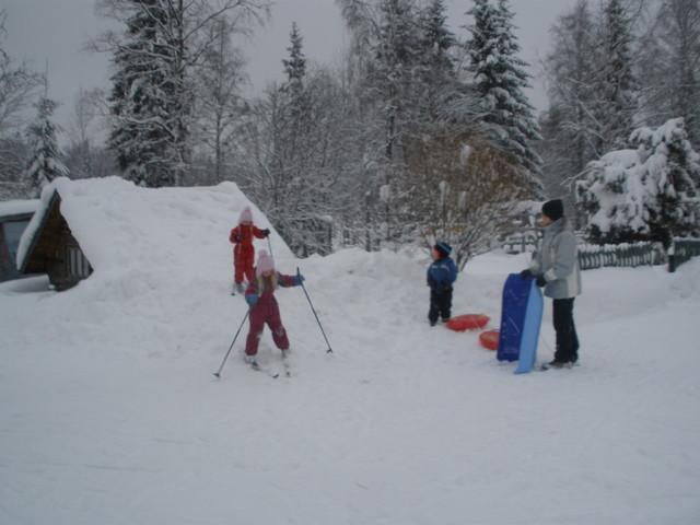 Mäenlaskua talvella 2010
