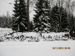On lunta Häytiällä 13.11.2019