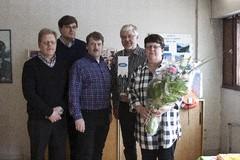 Vilakone Oy:n edustajat onnittelukäynnillä