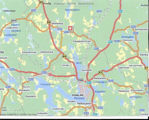 Vieremä Kartta