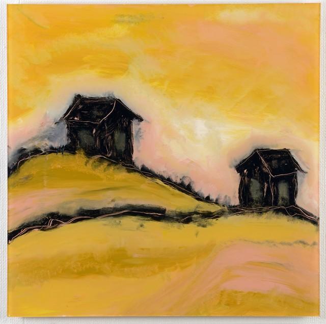 Hiljaiset pihat, 2012, 60x60 cm
