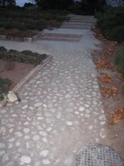 Kenttäväkivi ja graniitti portaat