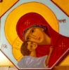 Ömhetens Gudsmoder (kantig pannå)