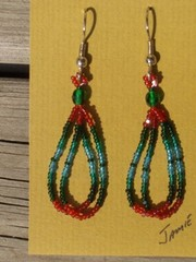 helmikorvakorut, bead earrings 2