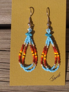 helmikorvakorut, bead earrings 3