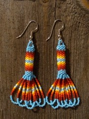 intiaanikorvakorut, peyote stitch earrings 2 ? kopio