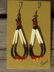 piikkisianpiikki korvakorut, porcupine quill earrings 1