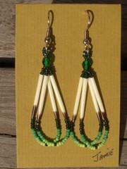 piikkisianpiikki korvakorut, porcupine quill earrings 2