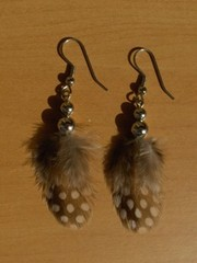 sulkakorvikset 1 feather earrings
