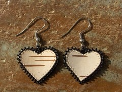 tuohikorvakorut musta, birch bark earrings black