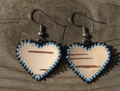 tuohikorvakorut sinimusta, birch bark earrings blue-black