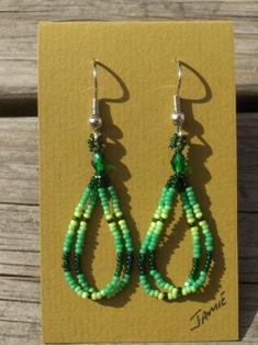 helmikorvakorut, bead earrings 4