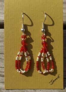 helmikorvakorut, bead earrings 5