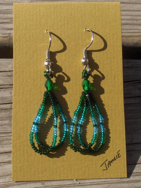 helmikorvakorut, bead earrings 6