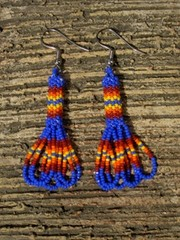 intiaanikorvakorut, peyote stitch earrings 6