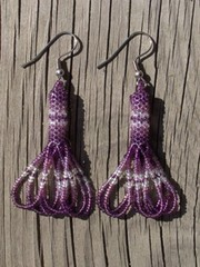 intiaanikorvakorut, peyote stitch earrings 8