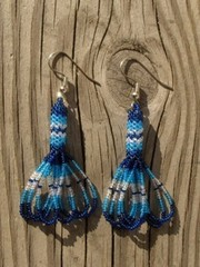 intiaanikorvakorut, peyote stitch earrings 9