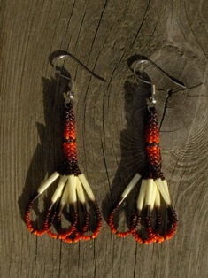 intiaanikorvakorut, indian porcupine quill earrings 003