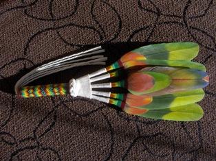 ceremonial fan intiaaniviuhka 2