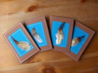 unituulia pikkukortti, hoyhen - unituulia  small card, feather