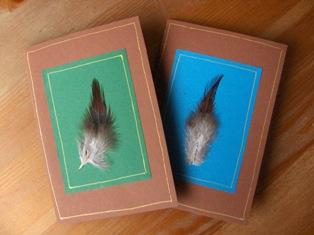 unituulia kortti, hoyhen, ruskea - unituulia card, feather, brown