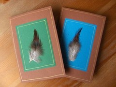 unituulia kortti, hoyhen, ruskea - unituulia card, feather, brown