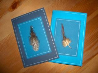 unituulia kortti hoyhen sini-turkoosi - card feather blue-turq.