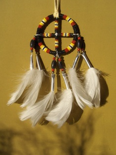 helmikirjottu elamanpyora - beaded medicine wheel