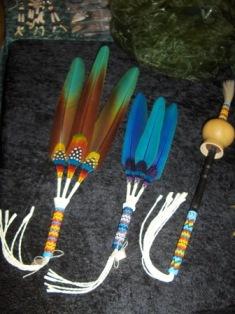 viuhkat ja helistin messuilla -09. fans and rattle at aitimaa -09