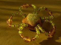 kukkamagneetti kelta-vihrea