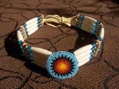 aito intiaanikoru - choker with rosette
