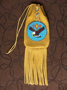 bag with beaded eagle