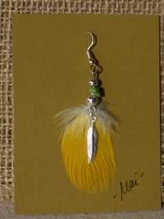 unituulia hoyhenkorvis keltainen-vihrea-hopea