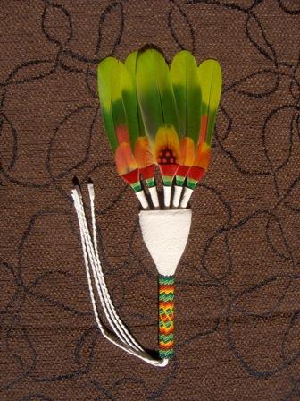unituulia intiaaniviuhka vihrea-oranssi