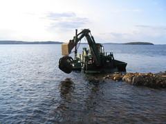 Aalonmurtaja työmaa