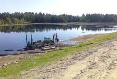 Lievestuore järven Laajalahden ruoppaus.