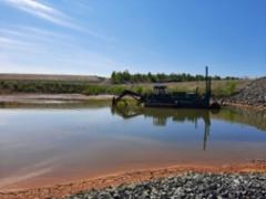 Kaivoksen rikastehiekan pumppausta