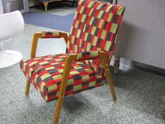 häklin tuoli retro sametilla